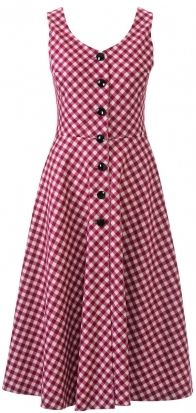 Dress with a fluffy skirt – pattern number 123 from the magazine 9/2014 Burda – dress patterns on
