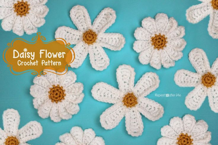 Repeat Crafter Me: Daisy Flower Crochet Pattern
