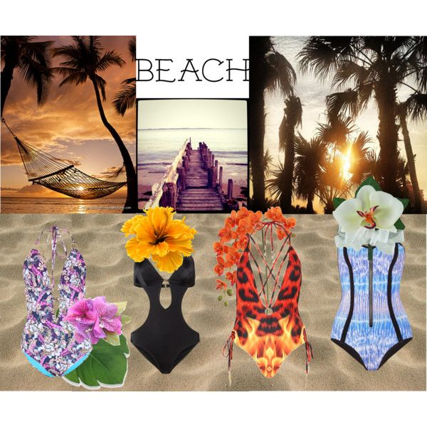 """beach"" by lelouka on Polyvore"