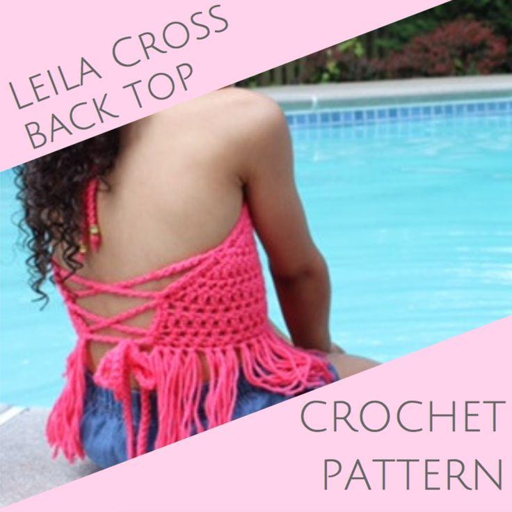 Leila Cross Back Top - Crochet PATTERN