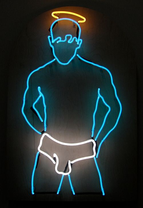 gay love neon light