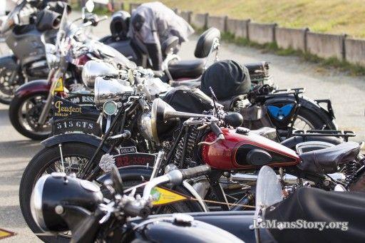 Classic vintage motorcycles Vs new motorbikes 2016 Le Mans Bikers Fest