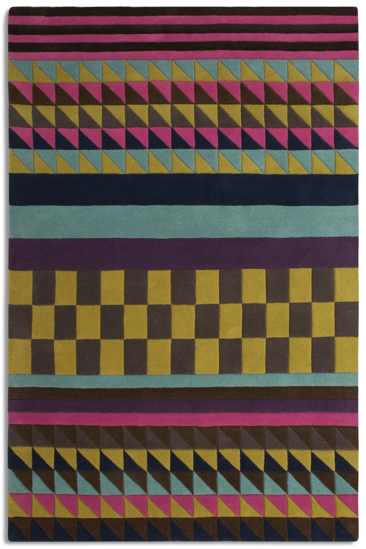 Origins. Influenced by our love of African culture, Origins pulls together bold colour and geometric prints to create the ultimate tribal gathering. One hundred percent wool, a statement piece to add a touch of spice to any room. http://www.plantationrug.co.uk/new-stuff/origins2.html