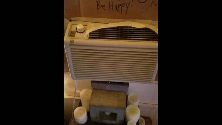 AC Unit Installed in casement or crank out window. Cheap AC fix!