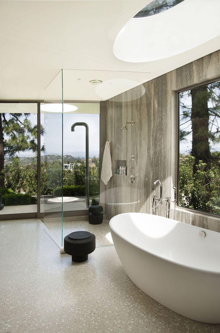 Contemporary Beverly Hills Home Boasting Circular Motifs - #bathroom