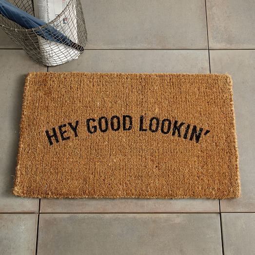 Hey Good Lookin' Coir Doormat