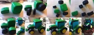 Come costruire un trattore di pasta di zucchero