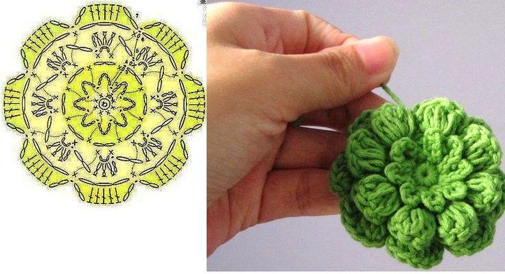 Uma fofurinha de flor em crochê....