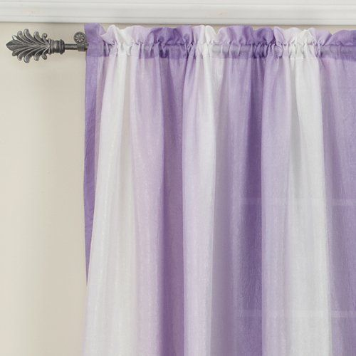 your zone crushed ombre long curtains, set of 2, iris