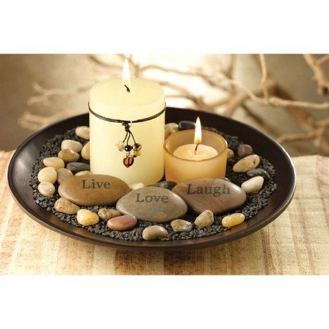 Coffee Table Centerpiece Ideas Centerpieces With Candles And Stones Feng Shui Pinterest
