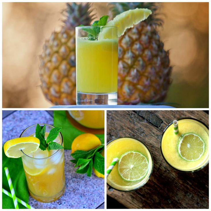 CHÁ VERDE COM ABACAXI E LIMÃO - 200ml de chá verde; 100g de abacaxi picado; suco de 1/2 limão; 10 folhas de hortelã; cubos de gelo à gosto. - Bata tudo no liquidificador e sirva sem coar.