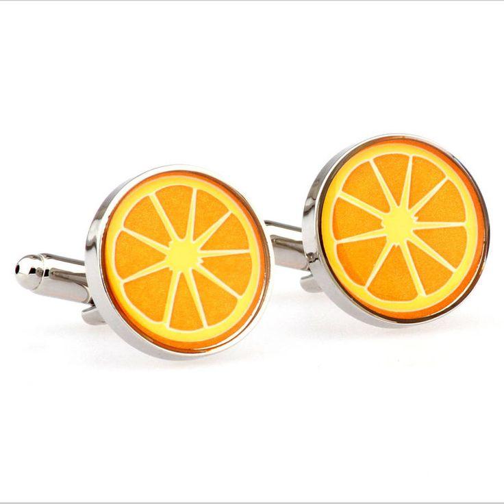 Orange Slice Cufflinks