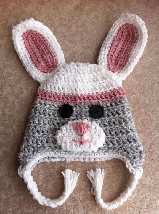 Free Crochet Patterns For Easter Bonnets : Sock Bunny Crochet Hat(: Hats Pinterest Baby girls ...