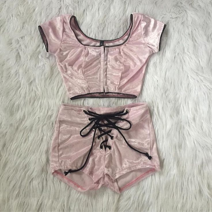 """We love seeing all of your cute Build-A-Set looks!  can't wait to send out this adorable li'l number this week -- the Capulet Top and Grommet Shorts in Baby Pink Velvet!  build yourself somethin' lovely under """"shop femme""""  """"new""""  """"build a set"""" currently available in sizes XS thru 2X!"""