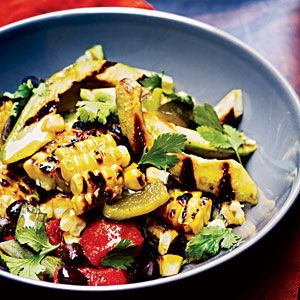 Grilled corn, poblano and black bean saladSalad Recipes, Black Beans Salad, Grilled Meat, Cooking Lights, Cold Salad, Grilled Vegetables, Bean Salads, Grilled Corn, Vegetables Salad