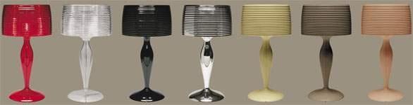 """Lampe de table """"Goa"""" de Solzi Luce. En couleurs naturelles ou en glossy! Au choix("""