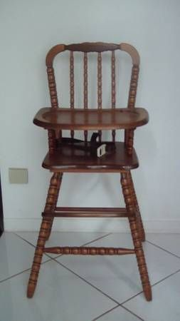 Vintage child rocking chair - Wooden High Chairs