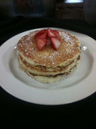 the cheesecake factory's recipe for lemon ricotta pancakes. SO GOOD.