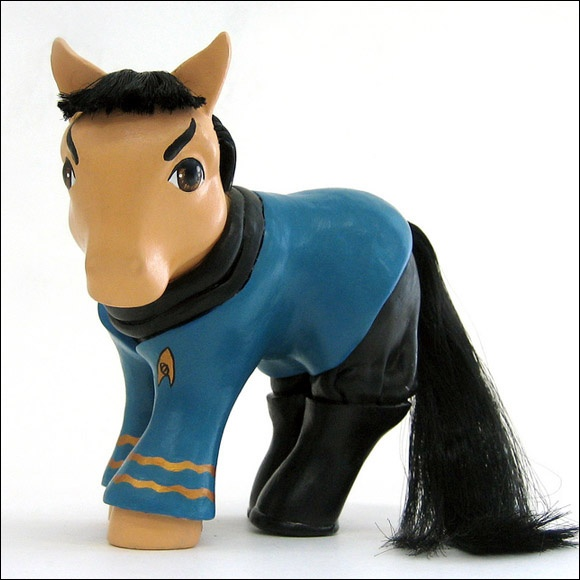 """those of us who follow regretsy (either hate or love it?) have seen the """"best ever my little pony collection""""...but I wish I could afford these yeah.: Geek, Nerd, Mary Kasurinen, My Little Ponies, Stuff, My Little Pony, Stars Trek, Startrek, Spock Ponies"""