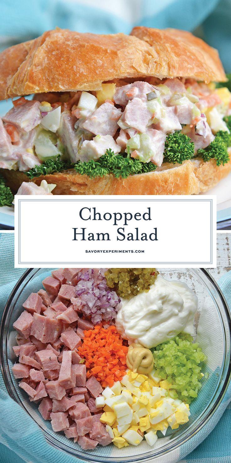 The best Ham Salad Recipe using leftover ham, minced vegetables, hard boiled egg…
