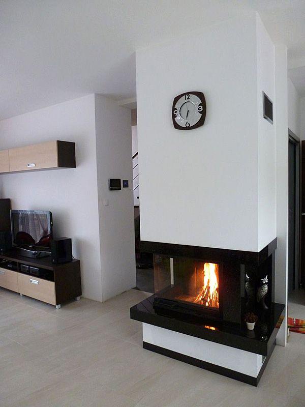 Fireplace - Two sided fire. Kominek nowoczesny. #fireplace #kominek