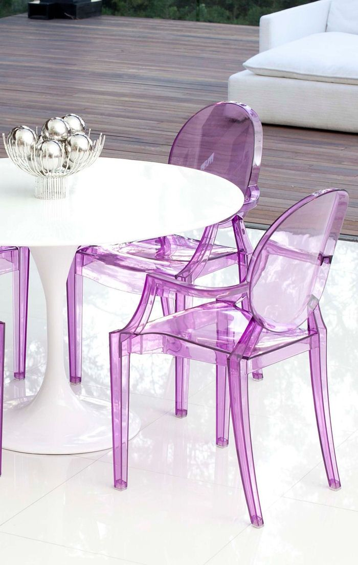 Purple Transparent Dining Chairs ♥ L.O.V.E.