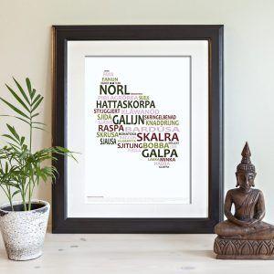 BEVAR DET BORRIJNGHOLMSKE SPROG postkort Køb det her: nova-natura.dk Bornholm