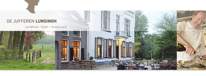 De Jufferen Lunsingh - Landhuis Hotel Restaurant, Westervelde, nederland. Gastvrij, heerlijk eten, goed slapen