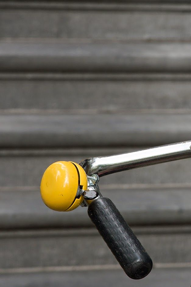 yellow bicycle bell