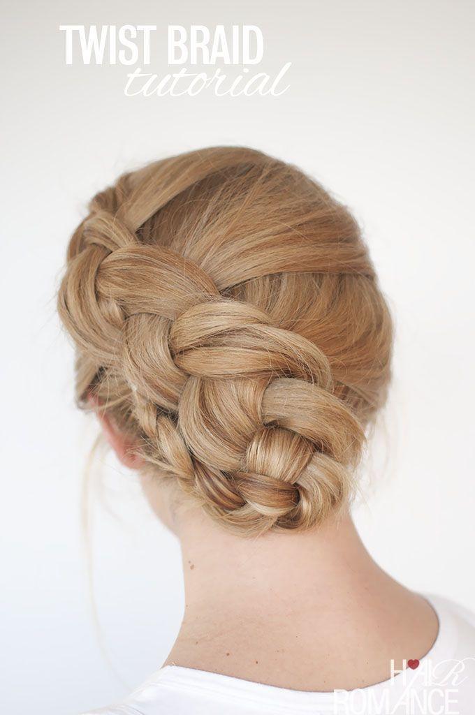 The twist braid updo is this week?s new braid hairstyle tutorial. It ...