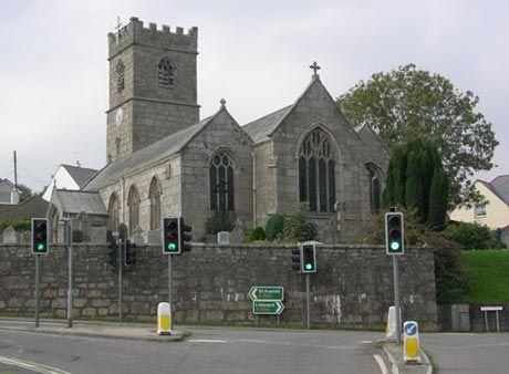 St Blazey Church.  From Tywardreath to St. Blazey - home of my early paternal Rescorla ancestors