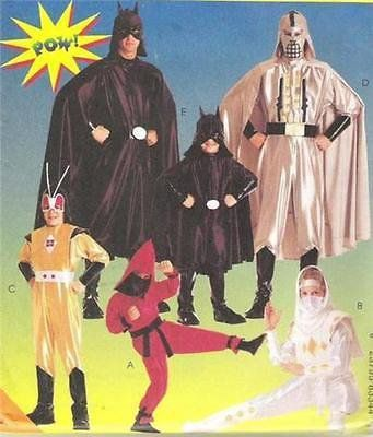 McCALLS 2336 Boys Superhero COSTUME PATTERN 7,8 Batman~Ninja~Darth~Martian FREE SHIPPING