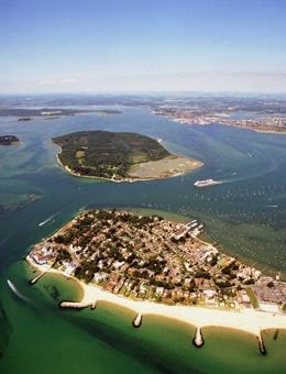 Poole Harbour in Dorset, UK