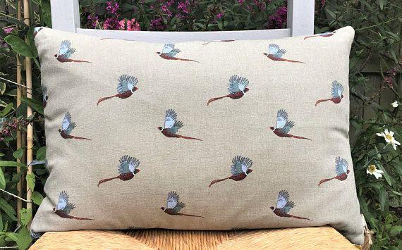 Two Ugly Sisters  Handmade Decorative Cushion Pheasant Birds.