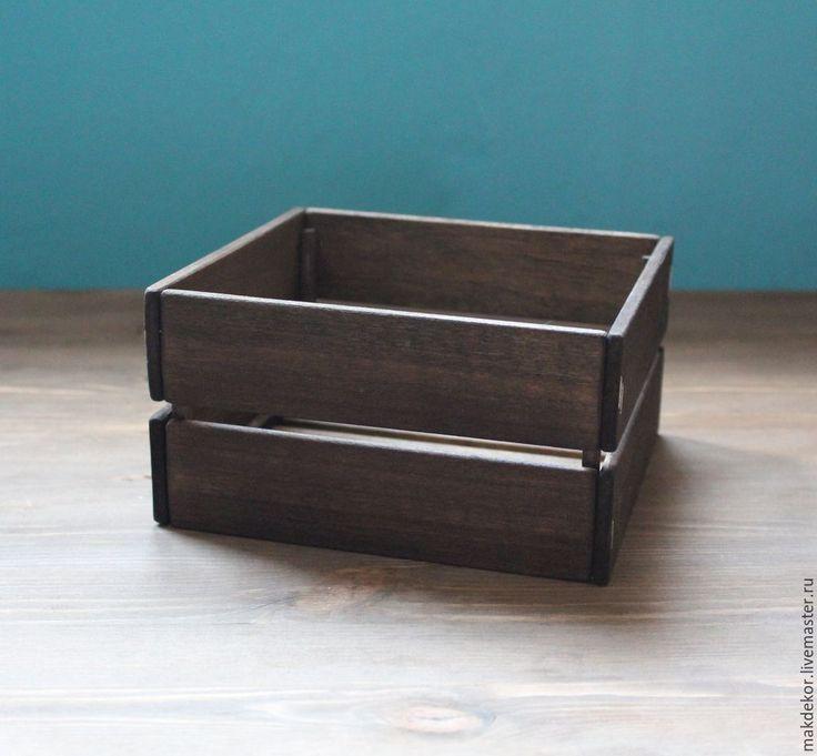 Купить Деревянный ящик для декора - Деревянный ящик, декор рустик, ящик для цветов, ящик для хранения