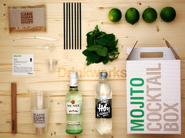 Beautiful and simple graphic design and package design for this Mojito making Kit | Drink | Cocktail gifts, Party kit, Mojito cocktail