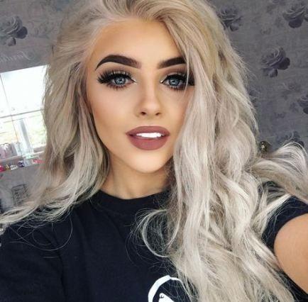 15 Ideas For Bleach Blonde Hair Dark Eyebrows Makeup in ...