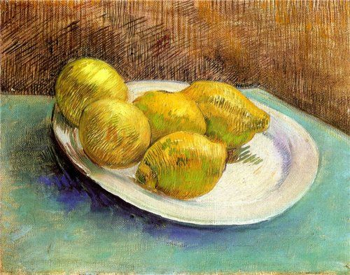 Still Life with Lemons on a Plate by Van Gogh