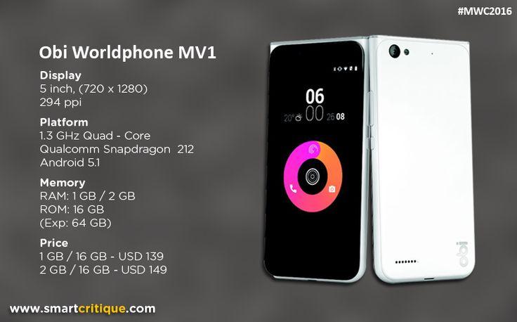 Obi Worldphone's third phone launched, Obi Worldphone MV1 - an amalgamation of SF1 and SJ1.5.Obi Worldphone has launched its latest model called Obi Worldp
