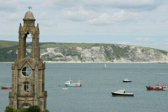 Ballard Point from Durlston Head,Swanage Bay, Swanage, Dorset, England