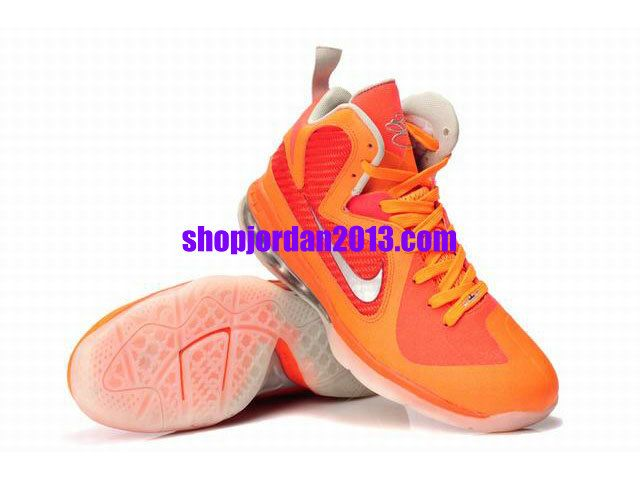 New Nike LeBron 9 Shoes Orange/Red Lebron James Shoes 2013 #Orange #Womens