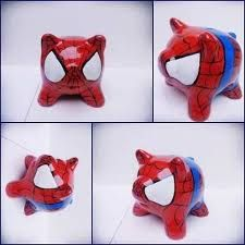 Resultado de imagen para chanchitos alcancia superheroes