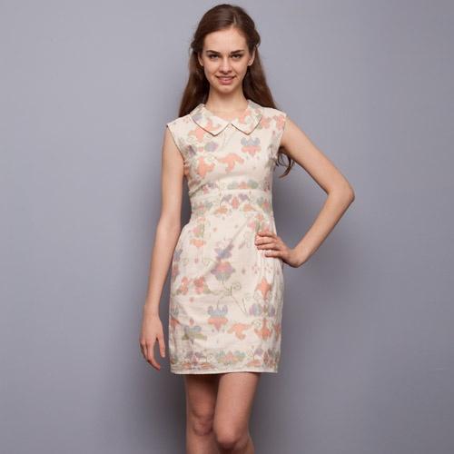 Batik Ikat Cream Dress - Flock Energy - IDR 840.000