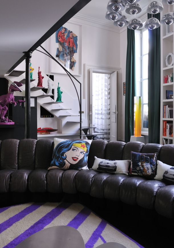 I could see doing a pop art movie room. Good way to keep goofy/dorky art in an otherwise stylish house.