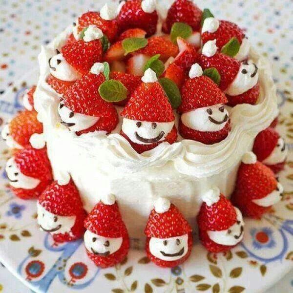 Strawberry Santa. Cake