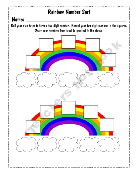 Pre School Worksheets : ordering numbers from least to greatest ...