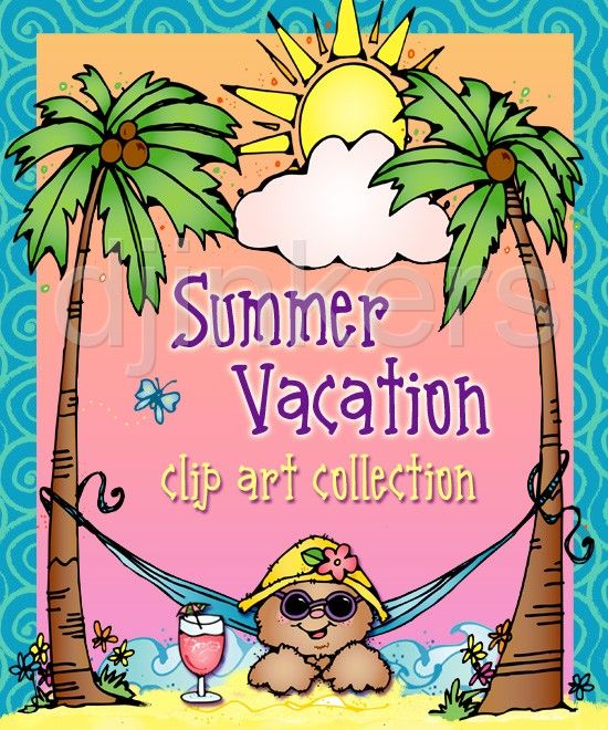 Summer Vacation, summer clip art, beach clip art, summer ...