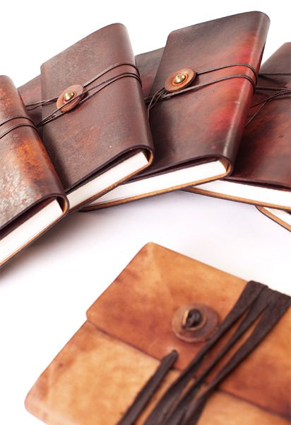 Leather bound notebooks are a favourite of mine.