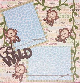 """""""Go Wild"""" layout using Create a Critter"""