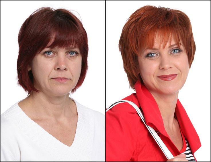 До и после, стрижка, рыжие, Bogomolov Наталья (47 лет)
